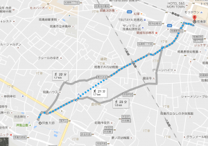 拝島大師徒歩でのルート